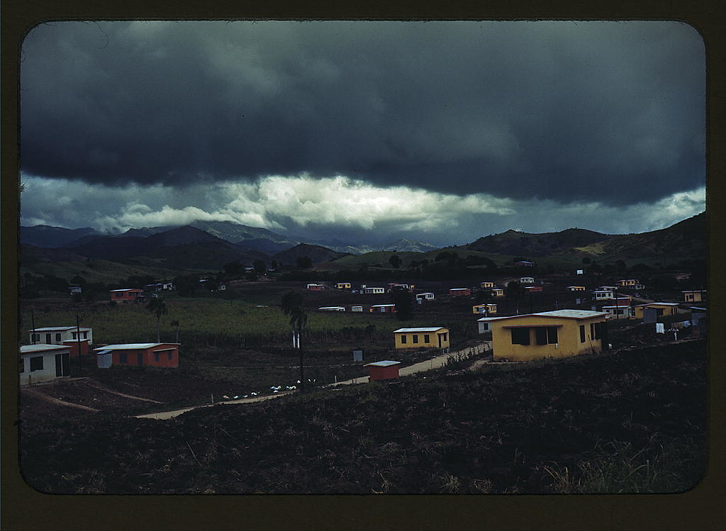 Federal housing project on the outskirts of the town of Yauco, Puerto Rico. About an acre of land for gardens is provided with each house (The Library of Congress) | Jack Delano, photographer.