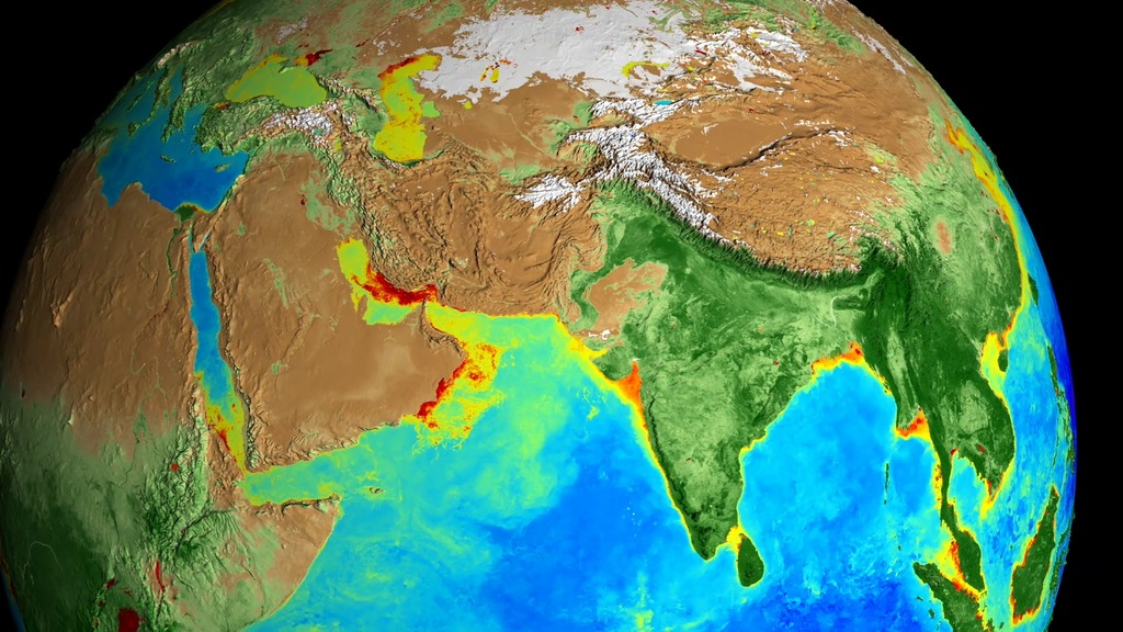 Since the fall of 1997, NASA satellites have continuously and globally observed all plant life at the surface of the land and ocean. Twenty years of satellite data has helped scientists track phytoplankton populations in the ocean, study changing vegetation in the Arctic reaches of North America, monitor crop yields and more | NASA's Goddard Space Flight Center