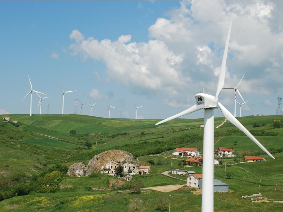 Northern Power wind turbines pepper the landscape in Bisaccia, Italy | NASA Spinoff