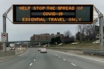 COVID-19 highway sign in Toronto, March 2020. EelamStyleZ