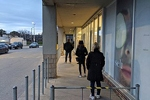 Customers waiting to enter Shoppers Drug Mart in Toronto in April 2020. Sikander Iqbal
